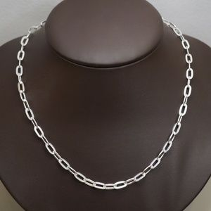 Sterling Silver (.925) 22 Inch Oval Link Necklace